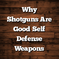 Why Shotguns Are Good Self Defense Weapons